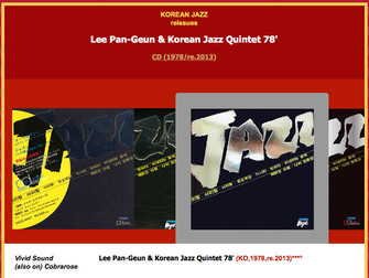 아리랑 - Lee Pan-Geun & Korean Jazz Quintet 78