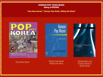 Books on Korean Pop