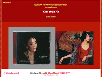 김윤아 - Kim Yoon-Ah / Kim Yuna (<Jaurim)