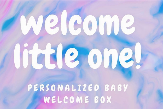 UNICORN THEMED BABY BOX Can Be PERSONALIZED