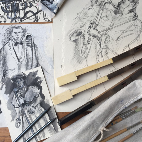 Process: Storyboards and Costume Drawings