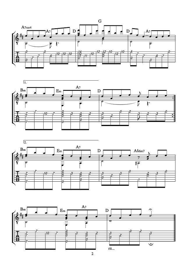 ロンドンデリーの歌  Danny Boy ソロギター配布用-ページ2.