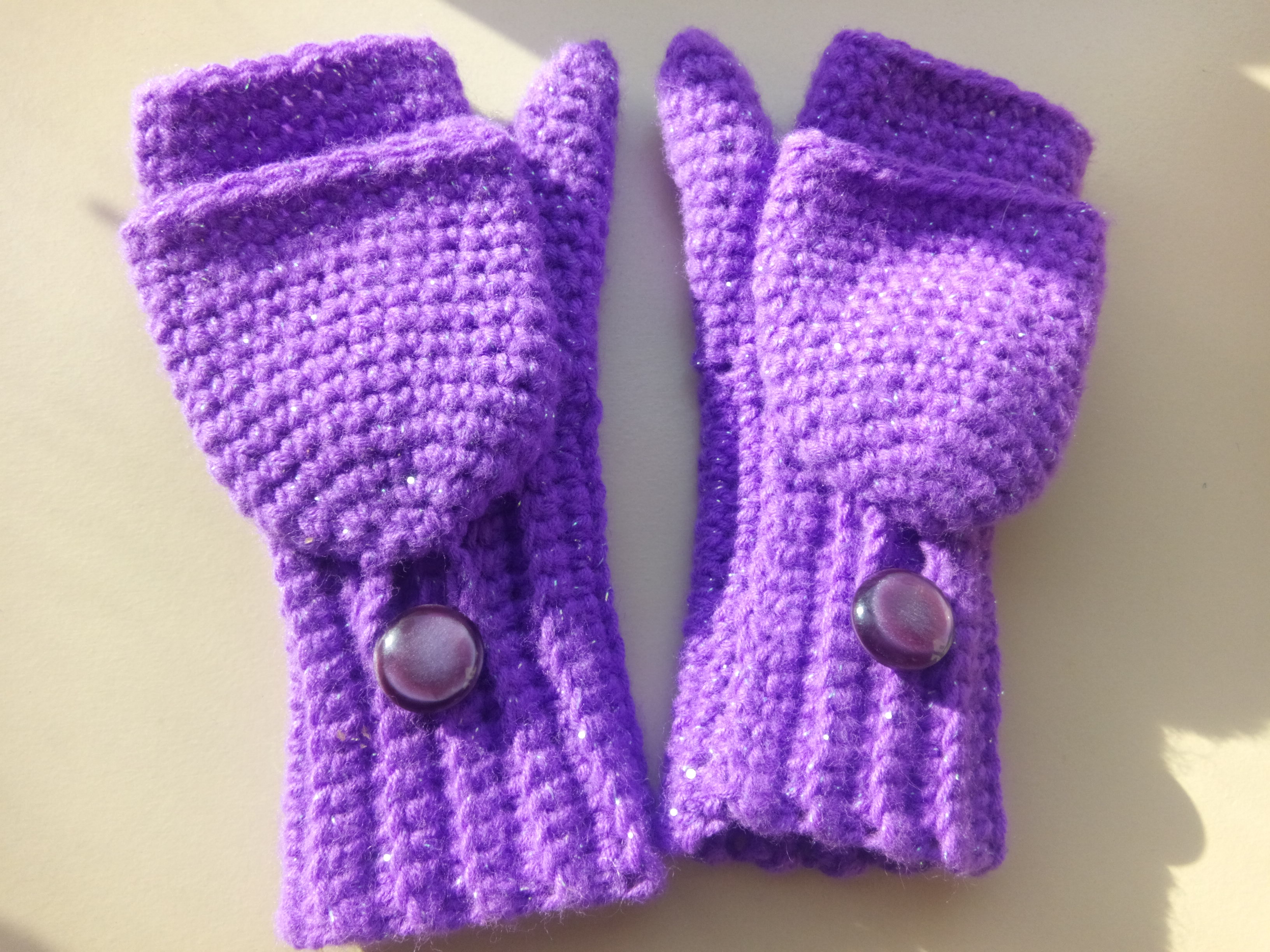 Crochet Fingerless Convertible Mittens (Child Size) | Turtle Whicky ...