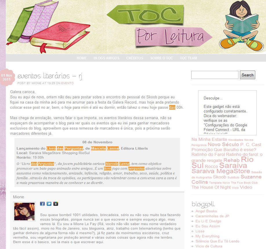 Blog Toc por Leitura