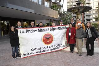 El presidente López Obrador recibe el respaldo de Trabajadoras y empleados del nuevo sindicalismo de