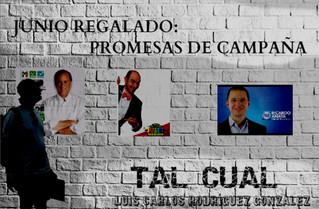 JUNIO REGALADO: PROMESAS DE CAMPAÑA