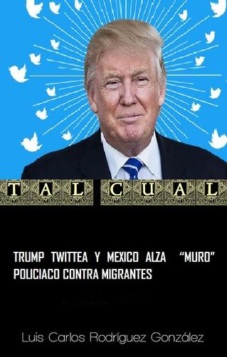 """TRUMP TWITTEA Y MEXICO ALZA  """"MURO"""" POLICIACO CONTRA MIGRANTES"""