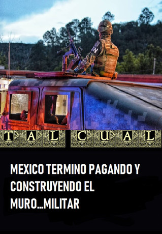 MEXICO TERMINO PAGANDO Y CONSTRUYENDO EL MURO…MILITAR