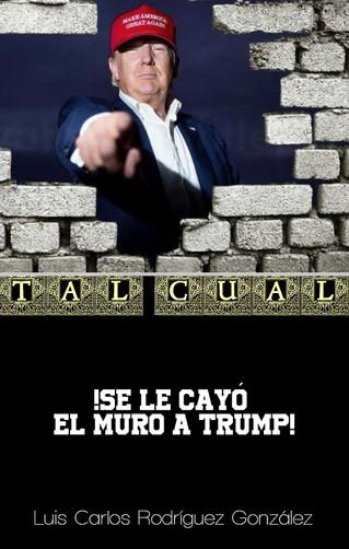 ¡Se le cayó el Muro a Trump!