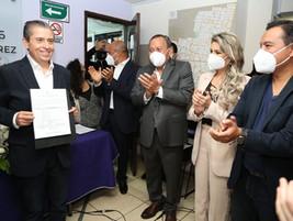 ENTREGAN CONSTANCIA DE MAYORÍA A GIOVANI GUTIÉRREZ,ALCALDE ELECTO DE COYOACÁN