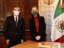 SE REÚNE EL ALCALDE ELECTO DE COYOACÁN, GIOVANI GUTIÉRREZ, CON CLAUDIA SHEINBAUM