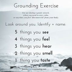 Grounding is great for anxiety