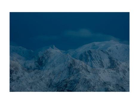 Le Mont Blanc au coucher