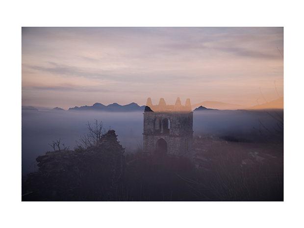Brume au lever sur Marsanne