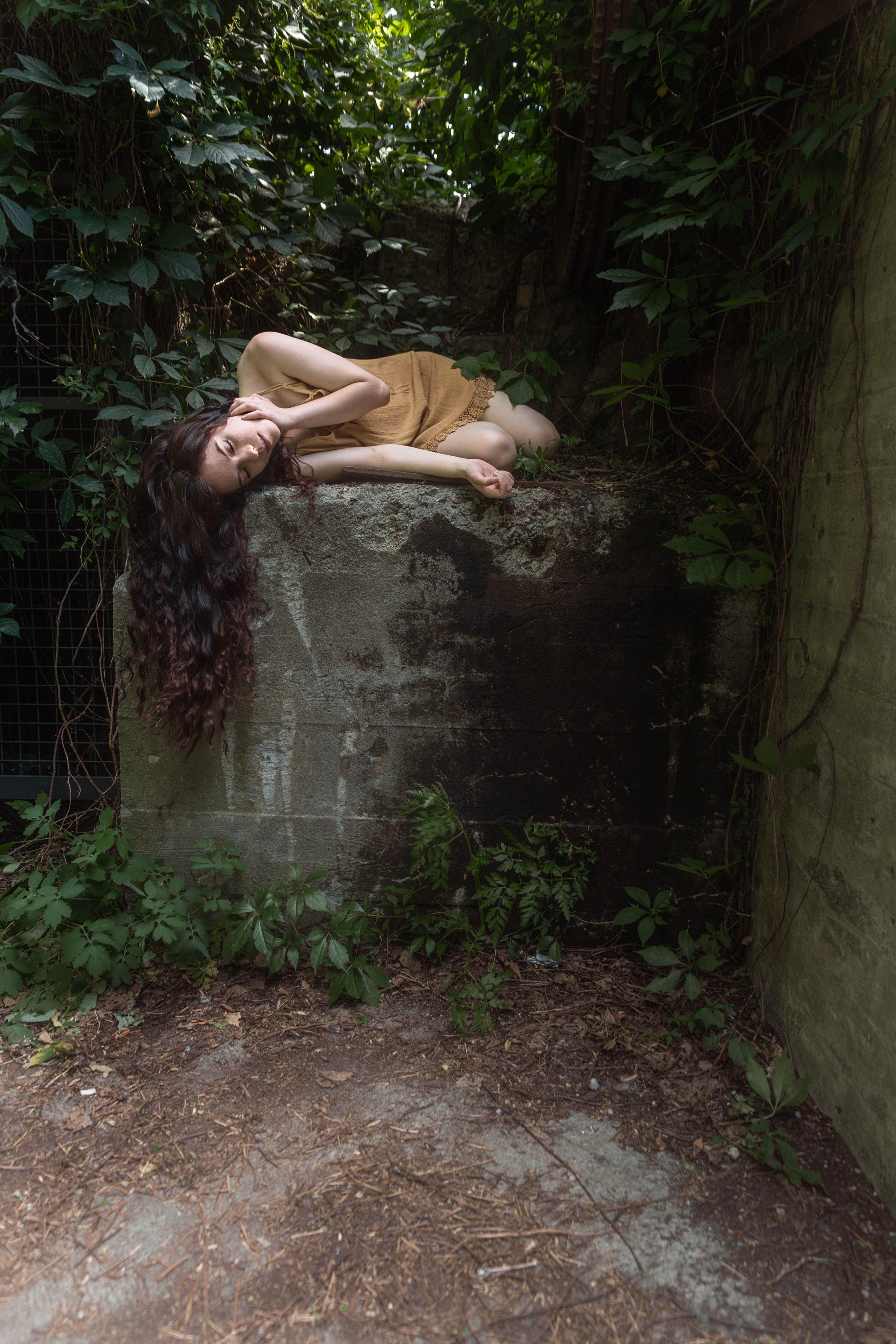 ...sous les pierres du jardin