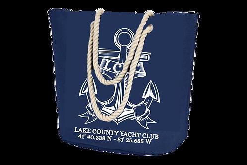 Navy Rope Handle Boat Tote