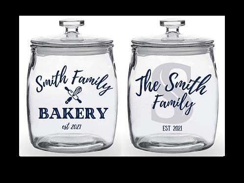 Custom Family Cookie Jar - 2 gallon