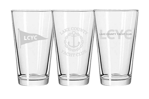 LCYC Etched Pint Glasses (x2)