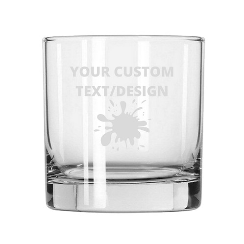 Personalized Etched Whiskey Glass
