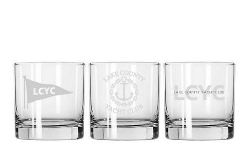LCYC Etched Whiskey Glasses (x2)