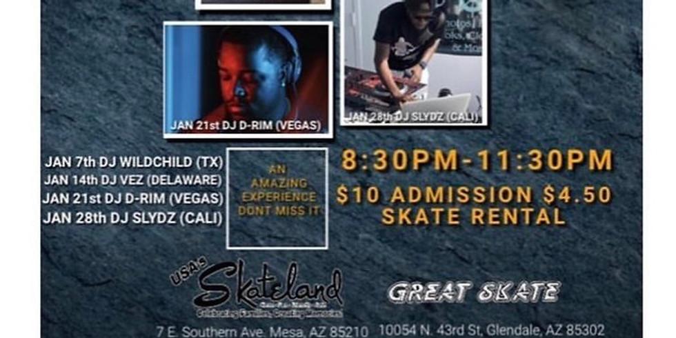 Ms. tracy presents Virtual skate night in Arizona & New Jersey