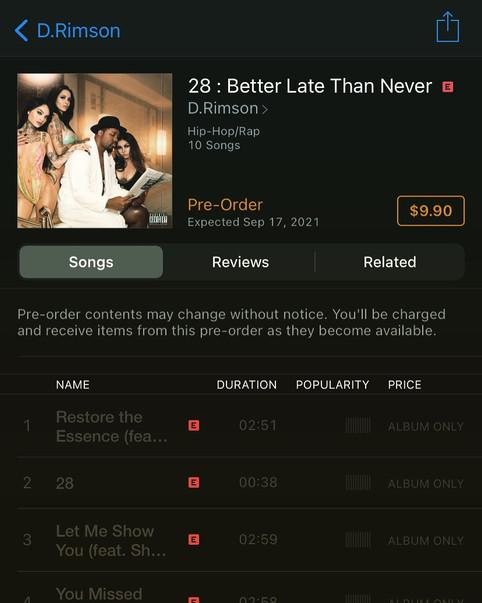 D.Rim's 4th album on Pre-Order Right Now