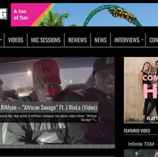 African Savage On UnderGround Hip Hop Blog (The Music Video)