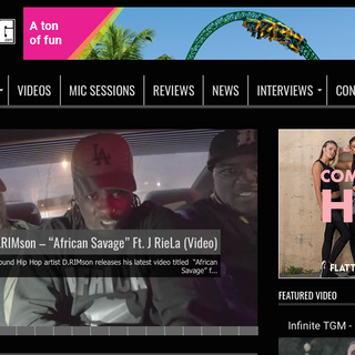 African Savage On UnderGround Hip Hop Blog (The Music Video)