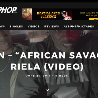 African Savage On IndieHipHop.Com