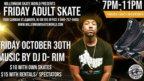 D.Rim the DJ will be at Millennium Skate World October 30th