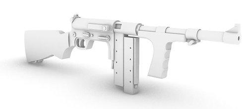 United Defense UD-42 Submachine Gun Set