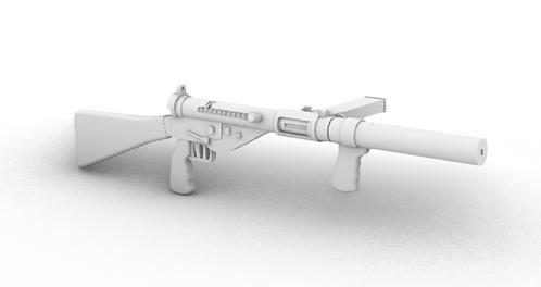 Sten Mark 5 Submachine Guns - Silencer - Set