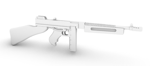 Thompson SMG - M1928A1 - Stick 20 - Desert - Set