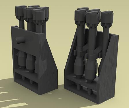 Aufsatzgestell (5 rocket pack for Panzershreck or Puppchen)