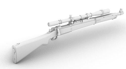 Springfield Rifle - M1903A1 - Sniper - Unertl - C Stock - Set