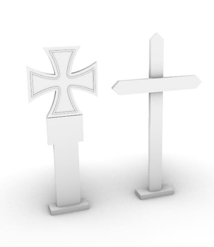 Field Grave Marker - Set 1 - German