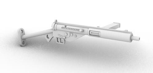 Sten Mark 3 Submachine Guns - T Stock - Set