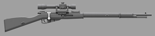 Mosin Nagant M1891/30, bent bolt with PE Scope (Pair)