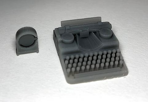 Continental Wanderer Typewriter and Kienzle Radio Clock