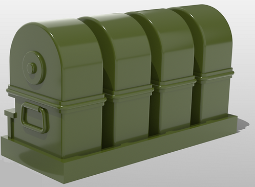 Tombstone 50 Cal Ammo Cans with Shelf
