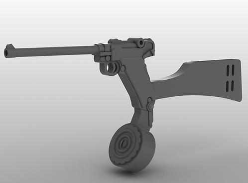"Luger P08 Pistol Lange - Artillery 8"" - Machine Pistol"