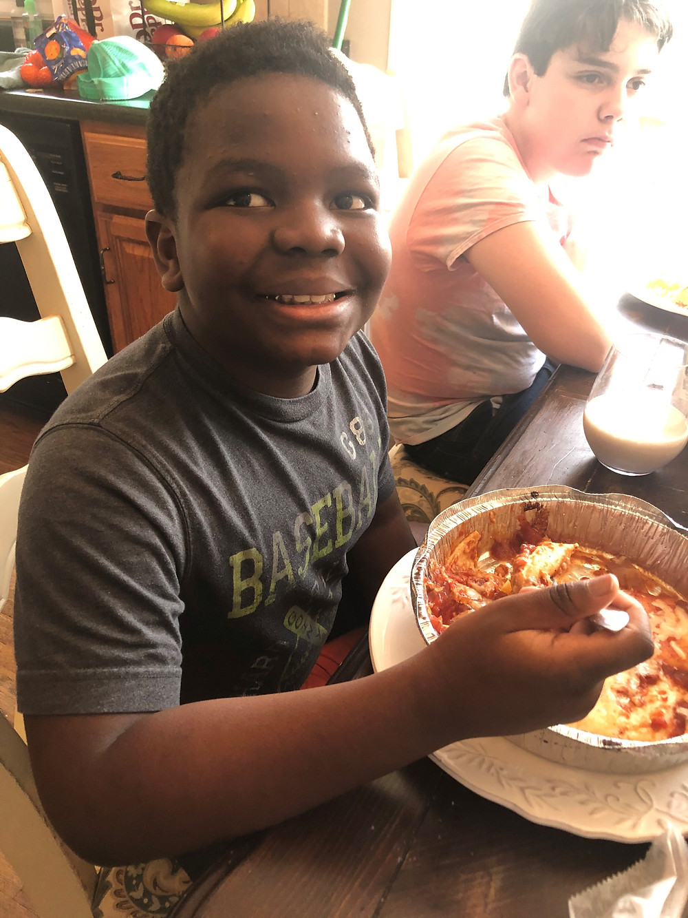 child eating mexican food