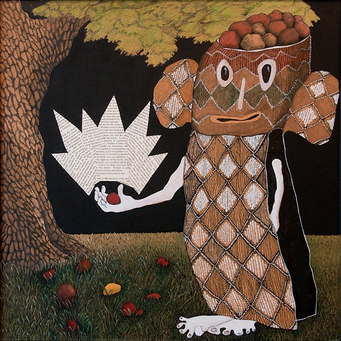 """""""Poor basket-head: too many unwanted head-nuts."""" by Jennifer Wise"""