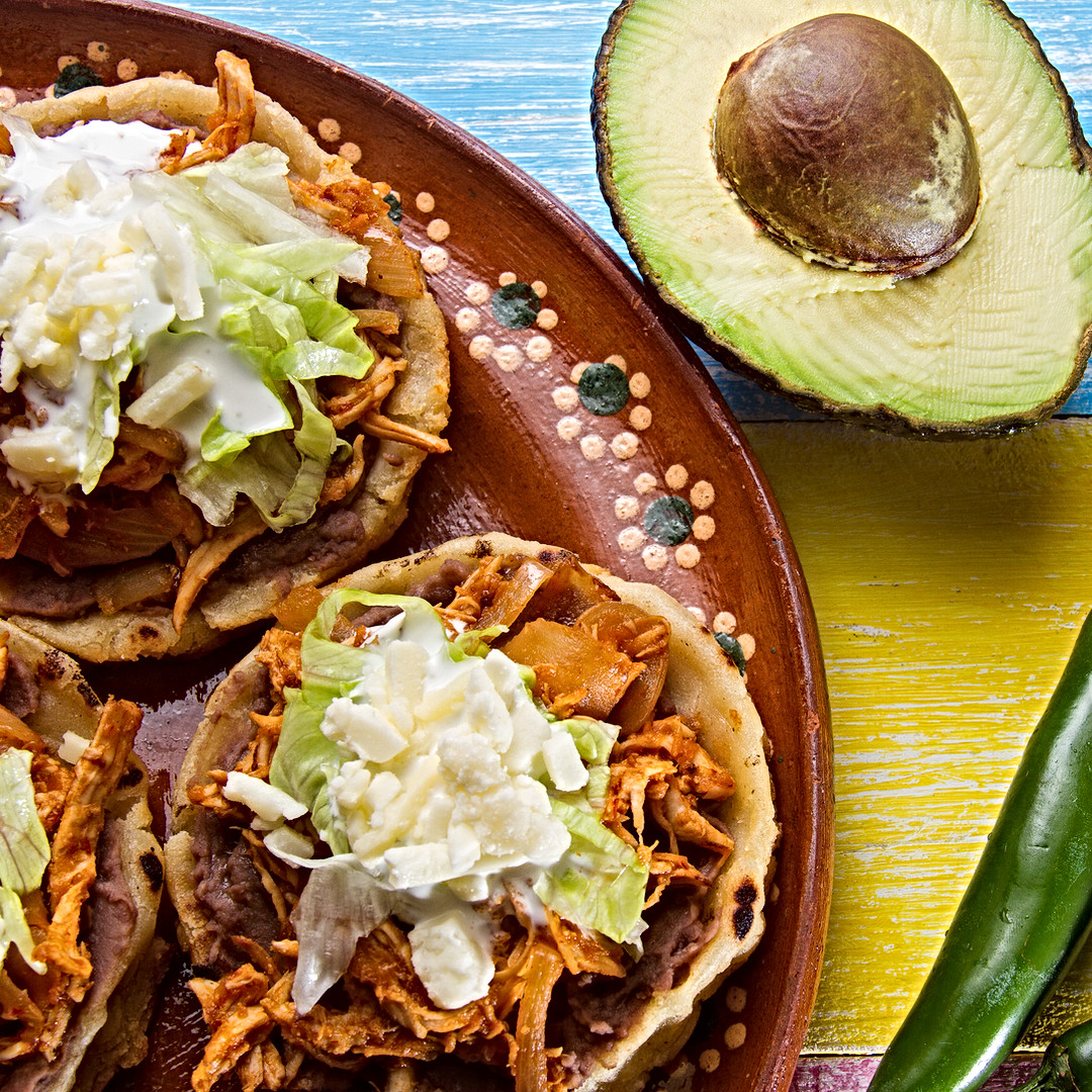 Authentic mexican sopes tinga.jpg
