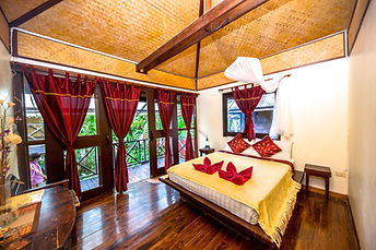 Fruit Tree Lodge Special offer.  Photo of the bungalow interior at Fruit Tree Lodge. Koh Lanta. Thailand