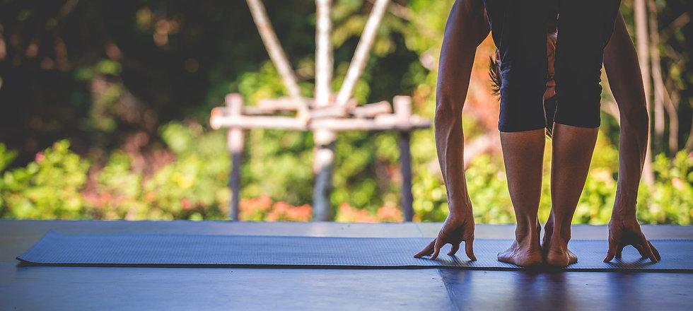 Lanta Yoga foward bend Koh Lanta Thailand