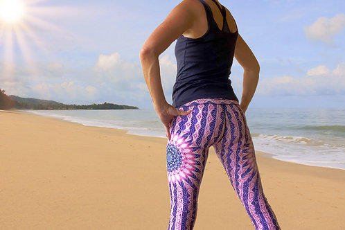 "Eco-friendly ""Hellocentric"" Yoga Leggings"