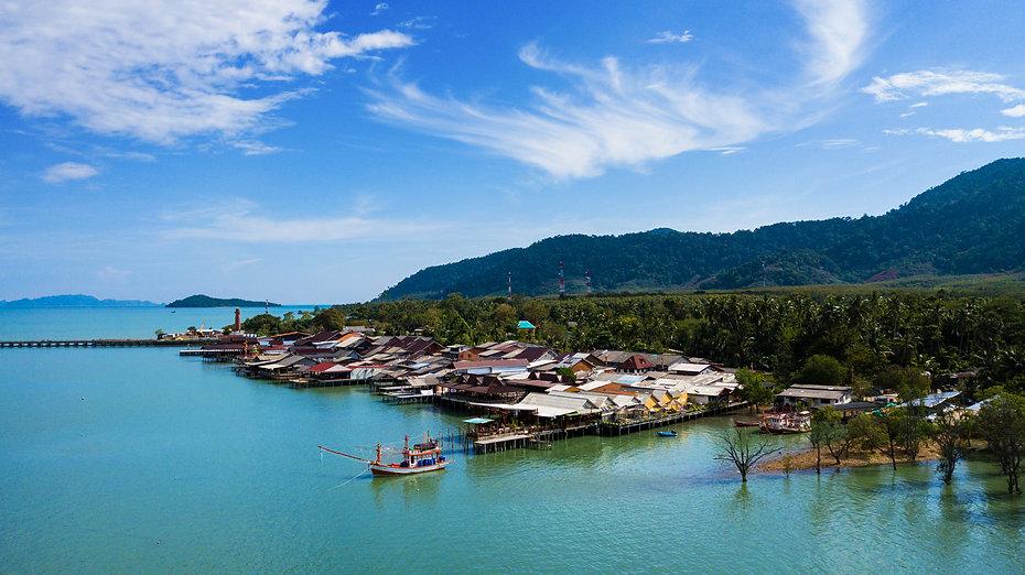 Koh Lanta Old Town Aearial Drone Image..