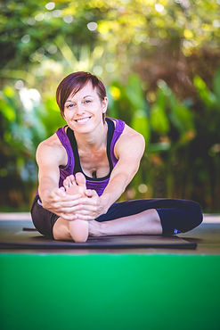 Photo of the yoga teacher at Lanta Yoga.  My Yoga Journey. Koh Lanta. Thailand.