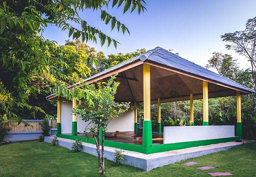 Photo of the Lanta Yoga Shala set in tropical gardens on Koh Lanta in Thailand